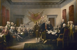 Signing of Declaration of Independence
